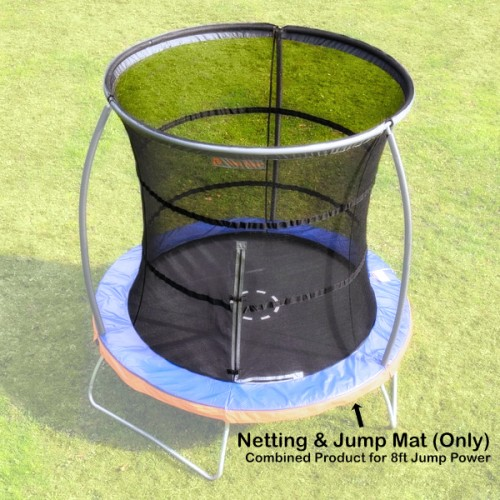 8 ft Jump Mat and Netting (Combined) for Jump Power Trampoline)