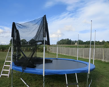 Replacing Trampoline Safety Netting